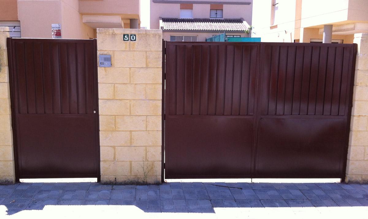 Proyectos en hierro carpinter a met lica tovar for Puertas de entrada de hierro